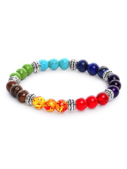 Bracelet à perles - multicolore