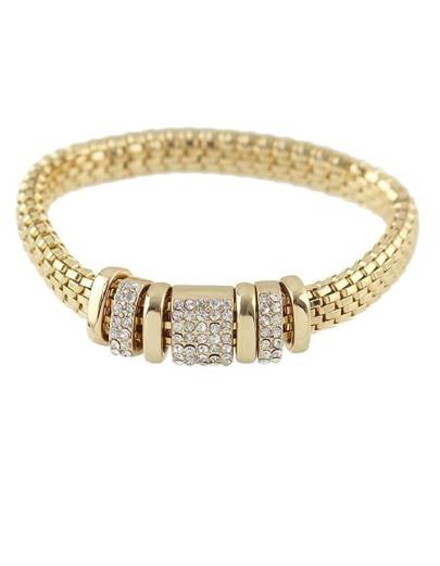 Wide Chain Rhinestone Bracelet