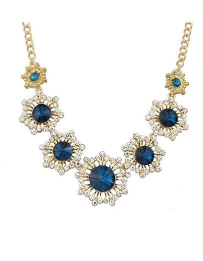 Gold Rhinestone Wedding Necklace