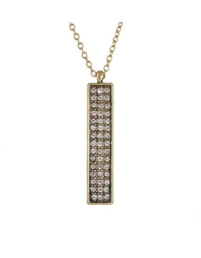 Rhinestone Long Necklace Woman