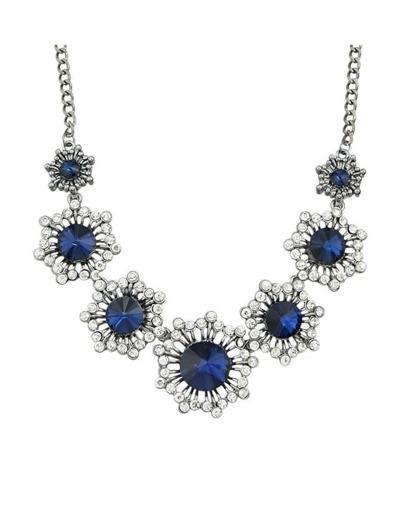 Silver Rhinestone Wedding Necklace