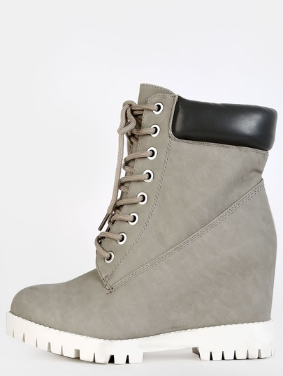 Outdoor Faux Suede Ankle Boots GREY