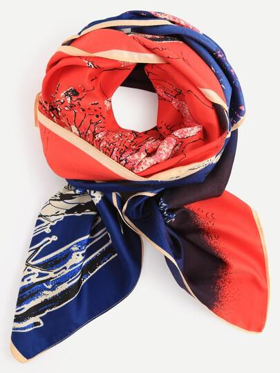 Multicolor View Print Scarf