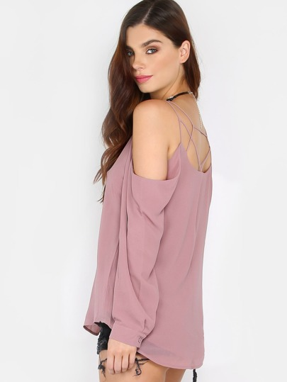 Flowy Cold Shoulder Strappy Top COCO