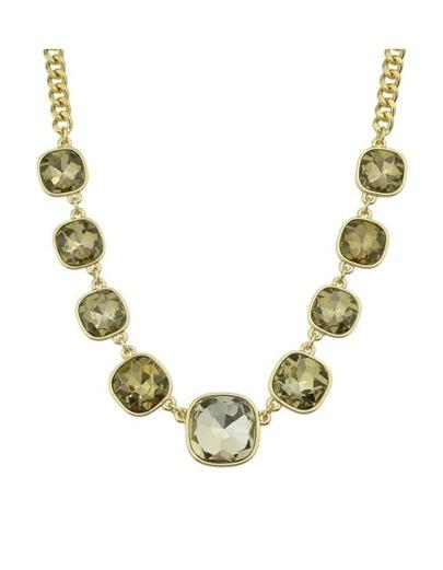 Shining Rhinestone Short Stone Necklace