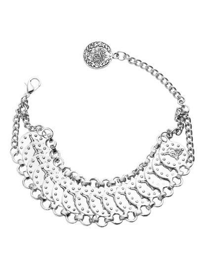 Серебристый элегантный браслет для ног