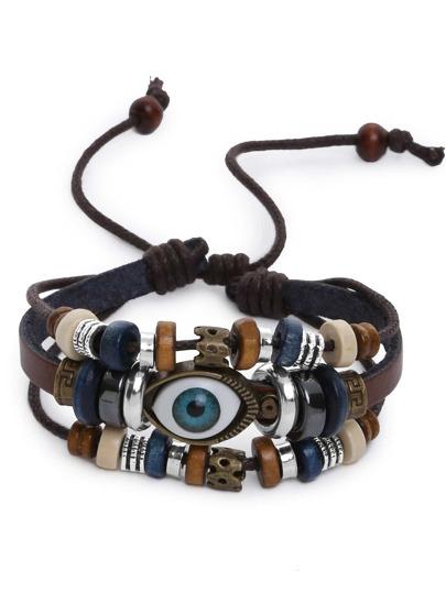 Bracelet multi-rangs avec perles