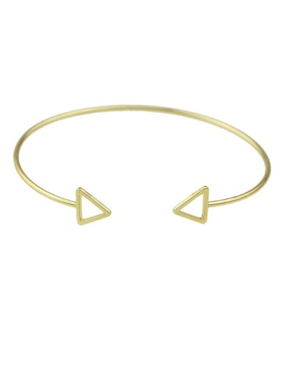 Gold Plated Thin Cuff Bracelet