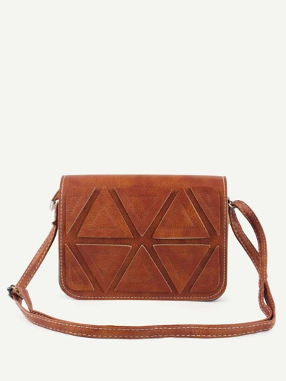 Camel Triangle Patch Flap Bag
