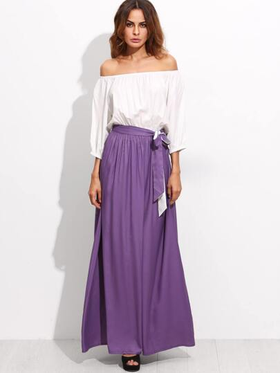 Color Block Tie Waist Convertible Maxi Dress