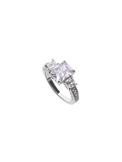 Classic Silver Rhinestone Ring