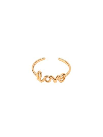 Gold Love Cutout Toe Ring
