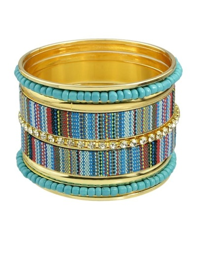 Blue Braided Rope Bracelets