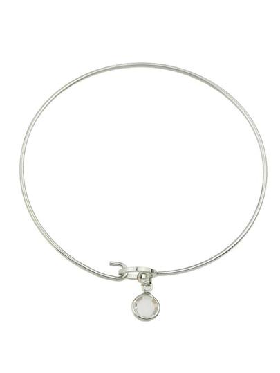 Silver Simple Model Thin Bracelet