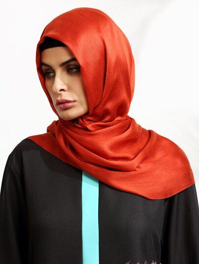 Watermelon Red Elegant Hijab Scarf