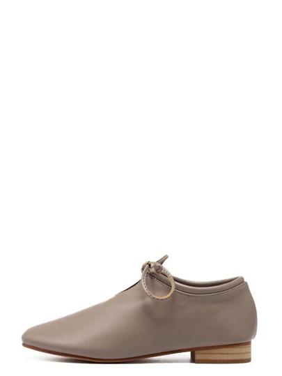 Zapatos cuero sintético cordón - camello