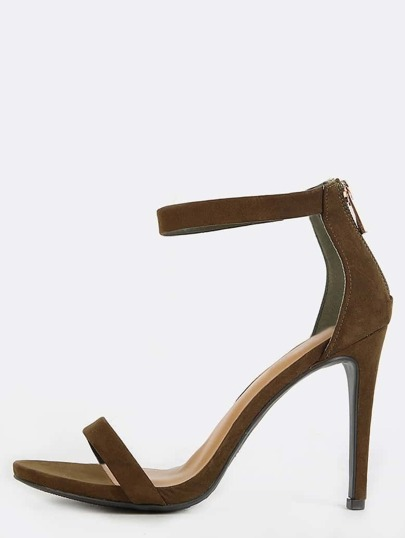 Single Strap Stiletto Heels OLIVE