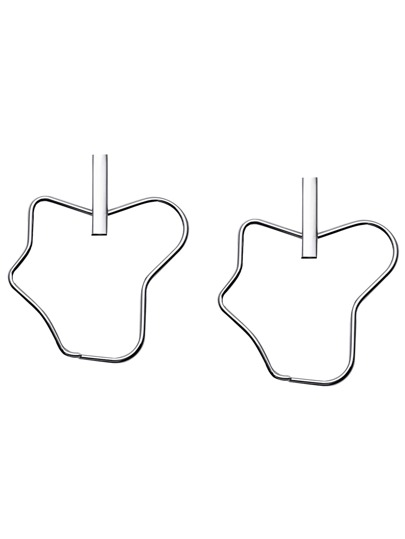 Silver Geometric Minimalist Stud Earrings