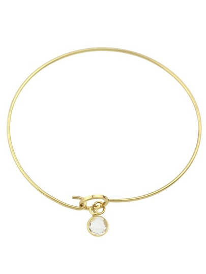 Gold Simple Model Thin Bracelet