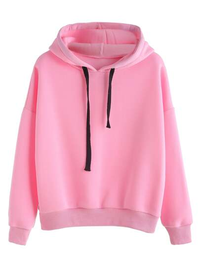Hooded Sweatshirt With Drawstring In Black