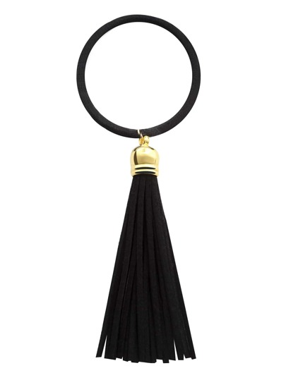 Black Tassel Hair Tie