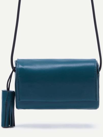 Fringe Snap Button Closure Flap Bag