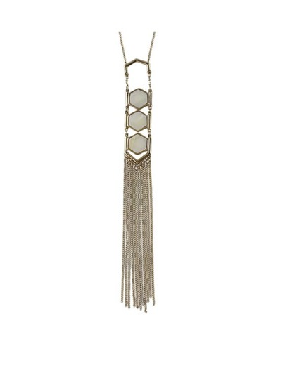 Gold Plated Long Tassel Necklace