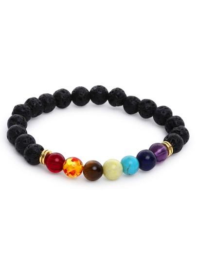 Модный браслет из разноцветного бисера
