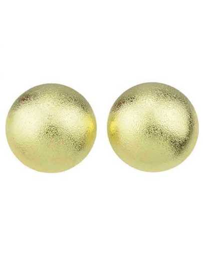Gold Plated Half Round Big Earrings