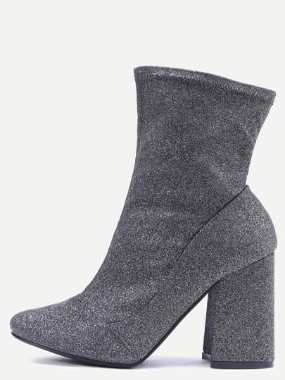 Sliver Suede High Heel Boots
