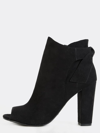 Bow Tie Back Booties BLACK