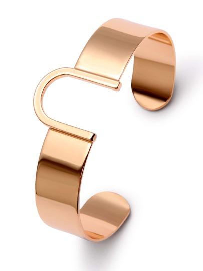Gold U Shaped Cuff Bracelet
