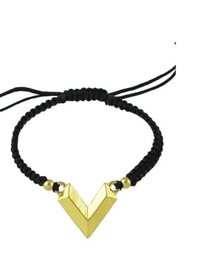 Gold V Shaped Adjustable Bracelet