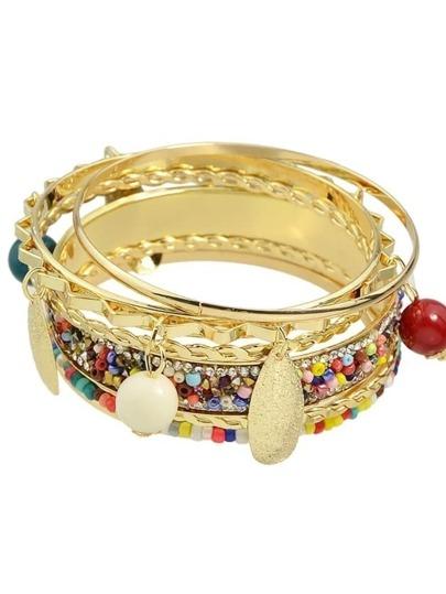 Colorful Beads Bracelets Set For Women