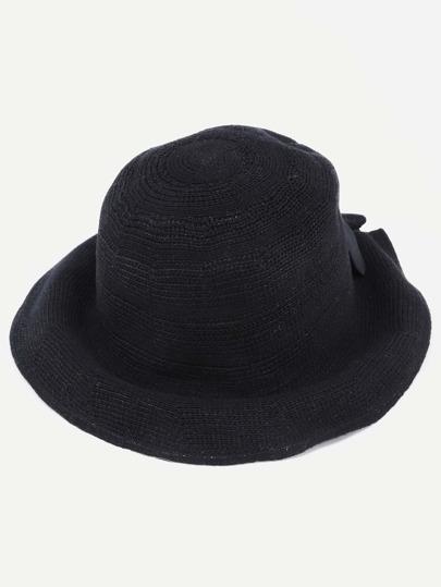 Black Sweet Bow Lace Hat