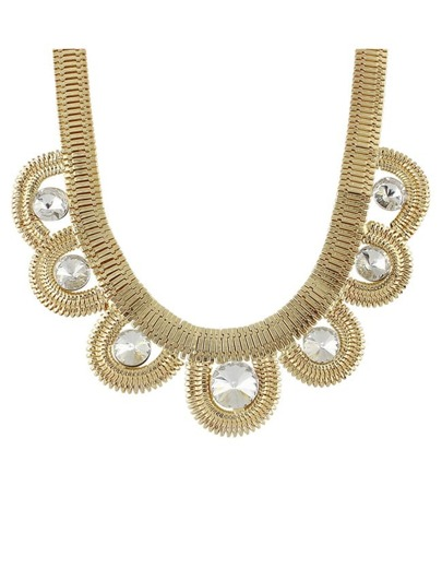 Rhinestone Statement Collar Necklace