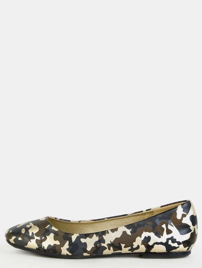 Metallic Camouflage Flats GOLD