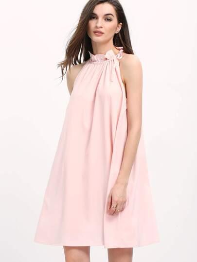 Pink Sleeveless Tent Dress