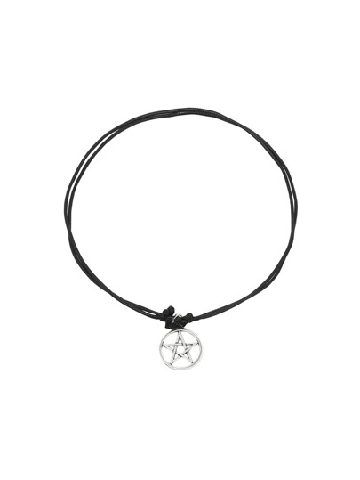 Silver Hollow Star Choker Necklace