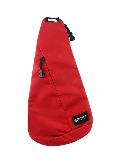 Red Sport Style One Shoulder Backpack