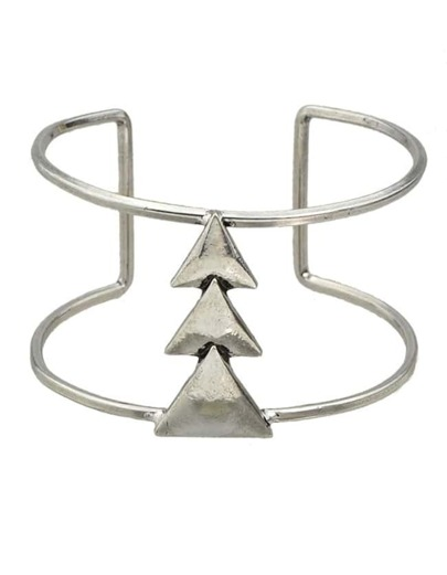 Silver Plated Simple Open Bangle