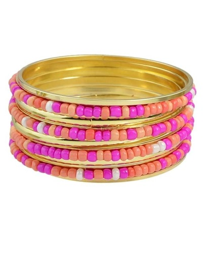 Hotpink Beads Bracelets and Bangles