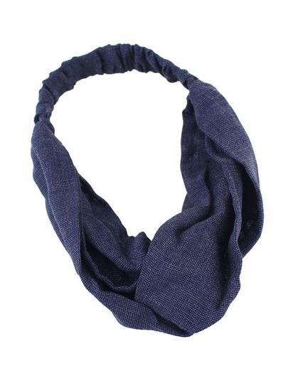 Тёмно-синий модный обруч для волос