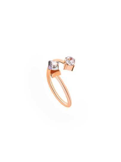 Gold Vintage Rhinestone Wrap Ring