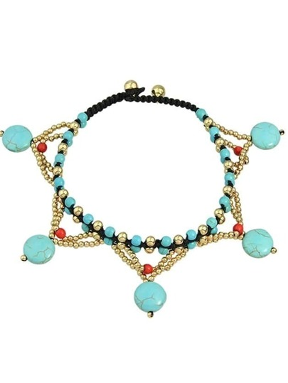 Beach Style Beads Chain Anklet For Women