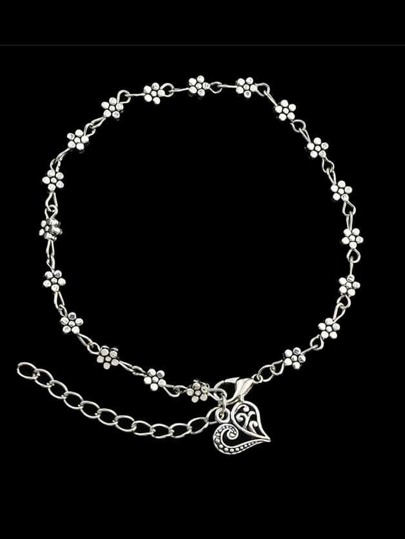 Beach Style Flower Charms Anklet For Women