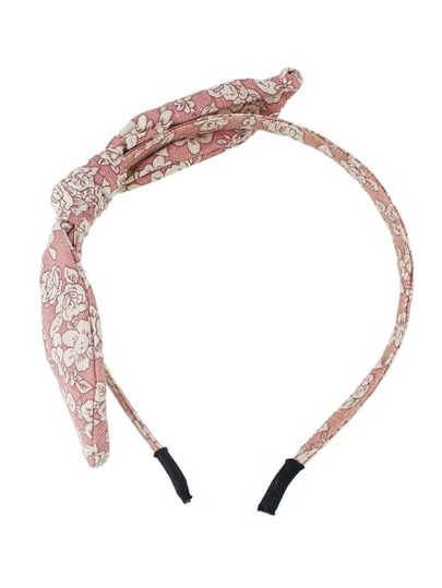 Flower Printed Bowknot Elastic Headband Accessories
