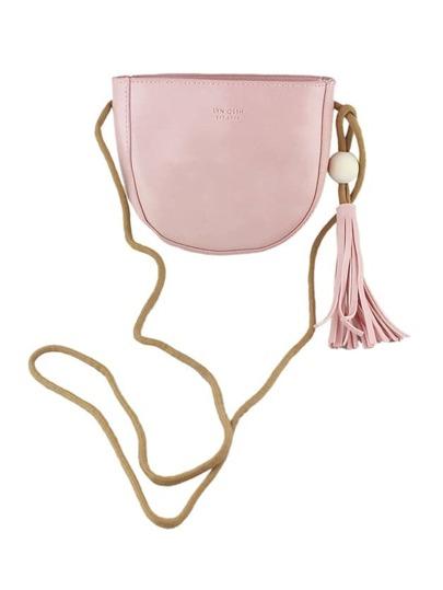 Pink Vintage Style PU Leather Small Handbag For Ladies