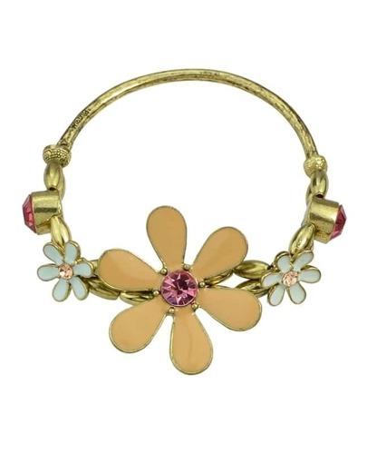 Elastic Enamel Flower Bracelet