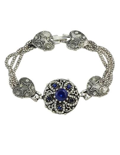 Blue Rhinestone Heart Shape Bracelet